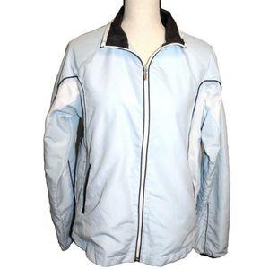 BCG Mens Size Medium Jacket Light Blue White